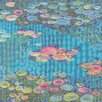Marmont Hill Homage to Water Lilies II' Art Print Wrapped on Canvas