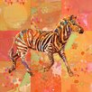 Marmont Hill Afrikarma Zebra' Art Print Wrapped on Canvas