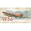 Marmont Hill Vintage Plane 1936' Graphic Art Wrapped on Canvas