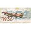 Marmont Hill Leinwandbild Vintage Plane 1936, Grafikdruck