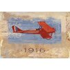 Marmont Hill Vintage Plane 116' Graphic Art Wrapped on Canvas