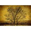 Marmont Hill Leinwandbild Entwined Tree, Grafikdruck