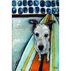 Marmont Hill Dog On Surfboard' Art Print Wrapped on Canvas