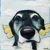 Marmont Hill All Good Dogs' Art Print Wrapped on Canvas