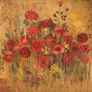 Marmont Hill Floral Frenzy VI' Art Print Wrapped on Canvas