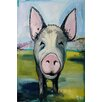 Marmont Hill Hog Heaven' Art Print on Wrapped Canvas