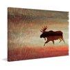 Marmont Hill Leinwandbild Moose, Bilddruck