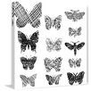 Marmont Hill 'Patterned Butterflies' Graphic Art Wrapped on Canvas