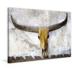 Marmont Hill 'Straight Horns' Graphic Art Wrapped on Canvas