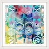 Marmont Hill Morphing Hexagons Framed Graphic Art