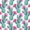 Marmont Hill Falling Cactus Art Print Wrapped on Canvas