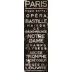 Marmont Hill Paris' Typography Wrapped on Canvas
