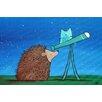 "Marmont Hill Leinwandbild ""Hedgehog Stargazer"" von Andrea Doss, Kunstdruck"