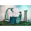 Marmont Hill 'Tea with a Dragon' by Andrea Doss Art Print Wrapped on Canvas