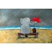 "Marmont Hill Leinwandbild ""Elephant Umbrella"" von Andrea Doss, Kunstdruck"