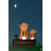 Marmont Hill 'Stargazing Bunnies' by Andrea Doss Art Print Wrapped on Canvas