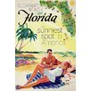 Marmont Hill Travel Poster Florida Vintage Advertisement Wrapped on Canvas