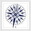 Marmont Hill Blue Compass Framed Graphic Art