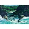 Marmont Hill Spring Salmon Graphic Art Wrapped on Canvas