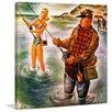 Marmont Hill Bikini Fishing Framed Painting Print