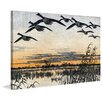 Marmont Hill Geese in Flight Framed Painting Print