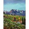 Marmont Hill Mt. Rainier Picnic Art Print Wrapped on Canvas