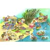 Marmont Hill Turtle Beach Party Art Print Wrapped on Canvas