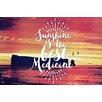 Marmont Hill Leinwandbild Sunshine is Best, Grafikdruck