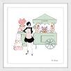 """Marmont Hill """"Laduree Cart"""" by Loretta So Framed Art Print"""