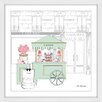 "Marmont Hill ""Laduree Cart 2"" by Loretta So Framed Graphic Art"