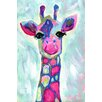 "Marmont Hill ""Giraffe"" by Jill Lambert Art Print Wrapped on Canvas"