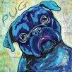 """Marmont Hill Leinwandbild """"Pug"""" von Stephanie Gerace, Kunstdruck"""