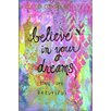 Marmont Hill 'Believe Dreams' by Jill Lambert Art Print Wrapped on Canvas