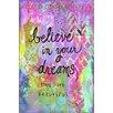 "Marmont Hill Leinwandbild ""Believe Dreams"" von Jill Lambert, Kunstdruck"