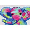 Marmont Hill 'Colorful Elephant' by Jill Lambert Art Print Wrapped on Canvas