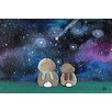 Marmont Hill 'Starry Sky Bunnies' by Andrea Doss Art Print Wrapped on Canvas