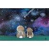 "Marmont Hill Leinwandbild ""Starry Sky Bunnies"" von Andrea Doss, Kunstdruck"