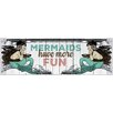 Marmont Hill Mermaid Fun Graphic Art Wrapped on Canvas