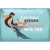 Marmont Hill Mermaid Kisses Graphic Art Wrapped on Canvas