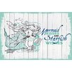 Marmont Hill Mermaid Kisses 2 Graphic Art Wrapped on Canvas