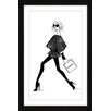 "Marmont Hill ""CC Girl Walking"" by Loretta So Framed Art Print"
