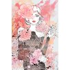 "Marmont Hill ""Floral Girl"" by Loretta So Art Print Wrapped on Canvas"