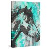 Marmont Hill 'Star Bright Aqua' by Irena Orlov Painting Print on Wrapped Canvas