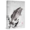 Marmont Hill 'Black Bass Jump' by Dwight Hwang Graphic Art on Wrapped Canvas