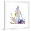 Marmont Hill 'Floral Meditation' by Diana Alcala Framed Graphic Art