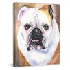 "Marmont Hill ""English Bulldog 1"" by George Dyachenko Painting Print on Wrapped Canvas"