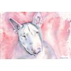 "Marmont Hill ""Bull Terrier"" by George Dyachenko Painting Print on Wrapped Canvas"