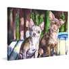 "Marmont Hill ""Chihuahuas"" by George Dyachenko Painting Print on Wrapped Canvas"