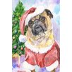 "Marmont Hill ""Christmas Pug"" by George Dyachenko Painting Print on Wrapped Canvas"