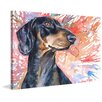 """Marmont Hill """"Dachshund"""" by George Dyachenko Painting Print on Wrapped Canvas"""